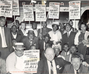 Local 810 members show their support for the March on Washington for Jobs and Freedom, 1963.