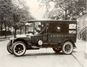 The Teamsters had public service members from its earliest days. A New York City Department of Public Welfare ambulance driver. 1922