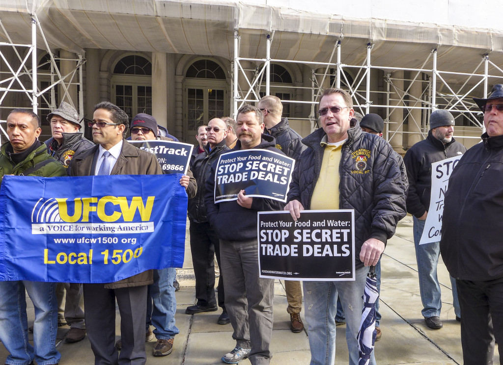 Teamsters rally against TPP